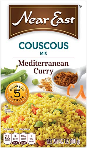 Couscous Curry - Near East Couscous Mix, Mediterranean Curry 5.7 oz (Pack of 12 Boxes)