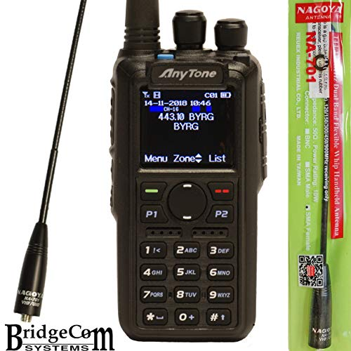 (ANYTONE AT-D878UV + Free Genuine Nagoya NA-701 Antenna ($21value), W/GPS & Programming Cable with Support)