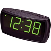 LENOXX CR85 Alarm Clock Radio Digital LED AM FM/Aux In/Large Big Numbers Sight Impaired
