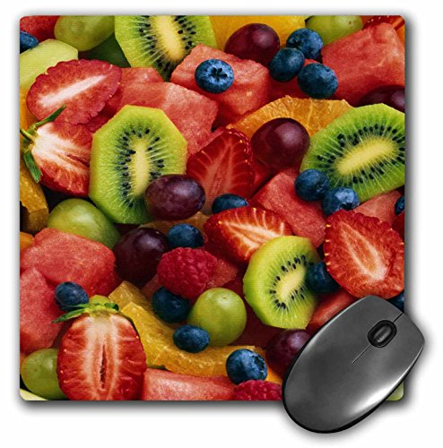 3dRose LLC 8 x 8 x 0.25 Inches Mouse Pad, Fruit Salad (mp_33156_1)