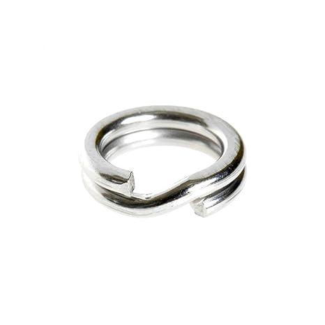 200 anillas de acero inoxidable sólidas para señuelo de ...