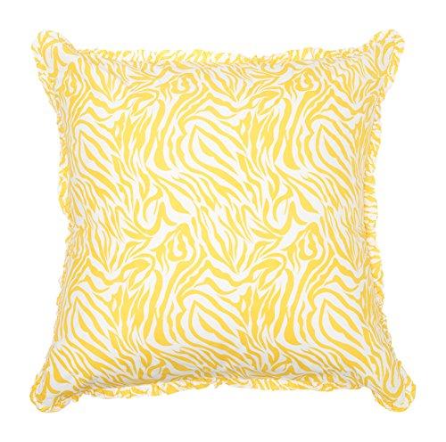 Be-You-tiful Home Zebra Sham, European King, Yellow