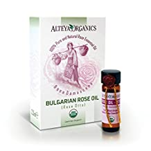 100% Pure USDA Organic Essential Bulgarian Rose Oil (REAL Rose Otto) - 2.3ml, Packed in 4.5ml bottle, From Alteya's Rose Distillery, Finest Quality