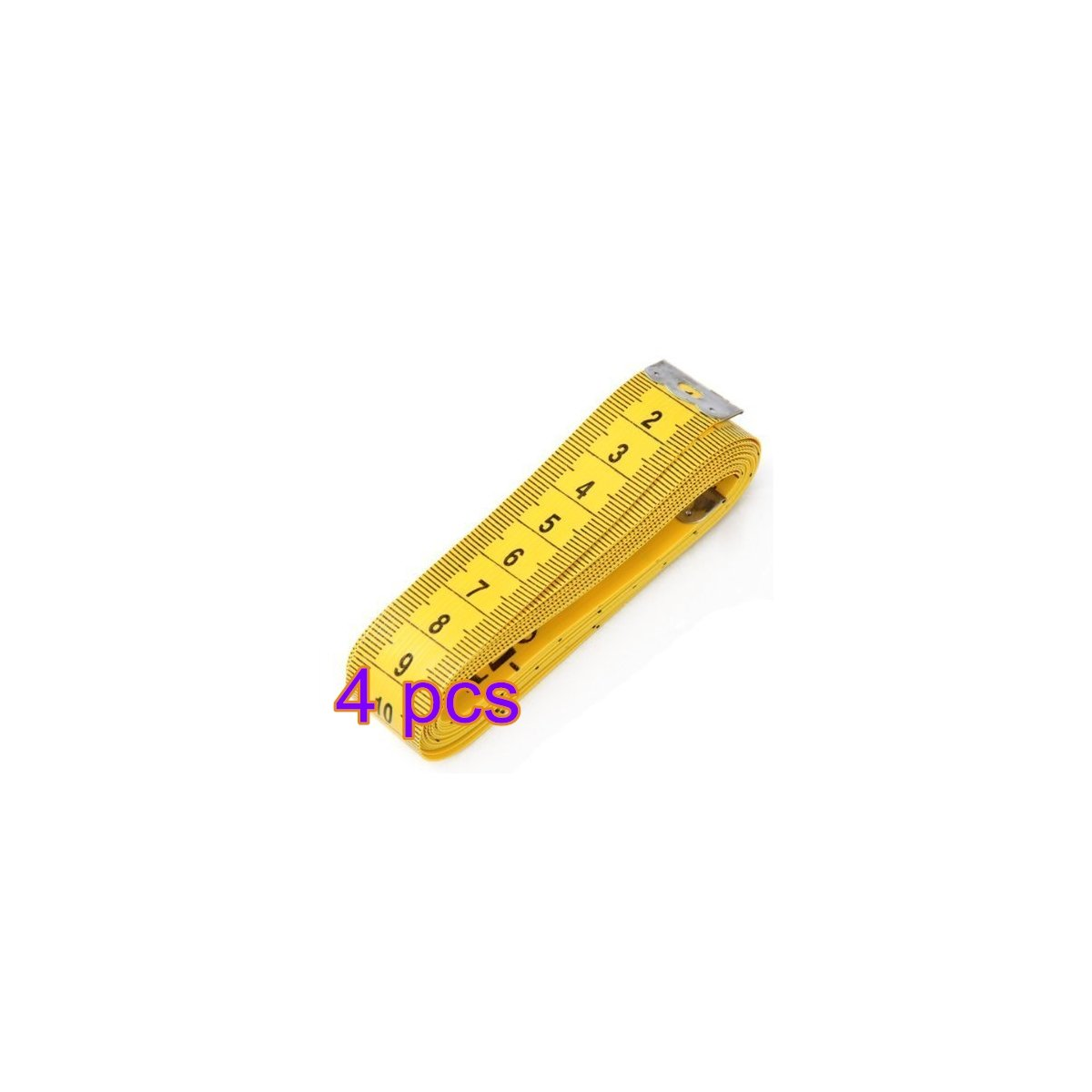 Tape Measure for Body Garment Tailor Sewing Portable Mini Keep-Fit Height Bust Waist Hips Measuring Tape Flexible Ruler - 1Pcs, Yellow Dylandy