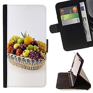 Momo Phone Case / Flip Funda de Cuero Case Cover - Frutas Uvas Blancas - Apple Iphone 4 / 4S