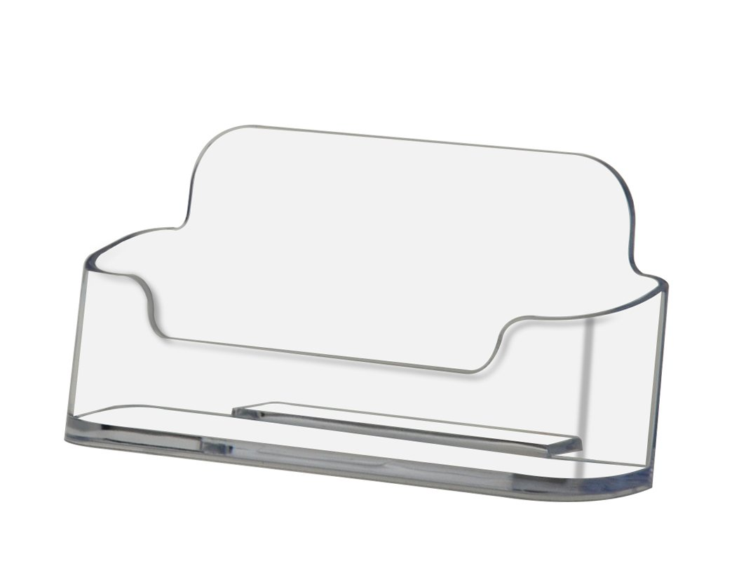 """Deflecto Business Card Holder, Single Compartment, 3-3/4""""W x 1-7/8""""H x 1-1/2""""D, Clear (70101)"""