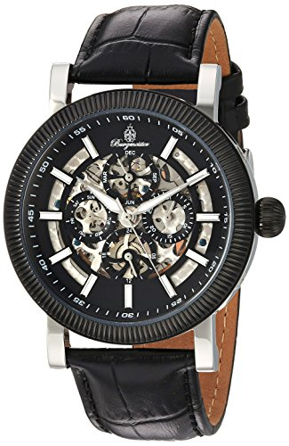 Burgmeister Men's Automatic Stainless Steel and Leather Casual Watch, Color Black (Model: BM221-622)