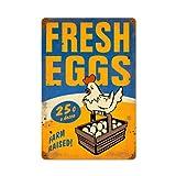 Fresh Eggs Food and Drink Vintage Metal Sign - Victory Vintage Signs