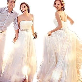 eb1a68a538942  ノーブランド品  ウェディングドレス ブライズメイド ドレス 女性 レディース 女の子 ロングドレス ベア