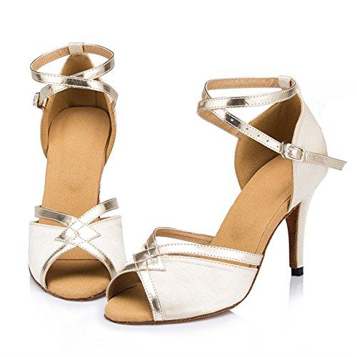 S Fondo Social Satén Alto Blando Zapatos Baile De De Latino B Salsa Baile Mujer GUOSHIJITUAN Zapatos De Zapatos Tacón Tango Baile 1vWnB5q