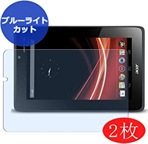 "【2 Pack】 Synvy Anti Blue Light Screen Protector for ACER iconia Tab A110 7"" Screen Film Protective Protectors [Not Tempered Glass]"