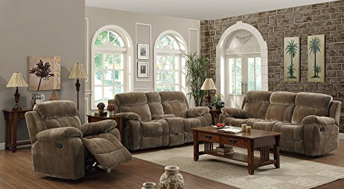 Coaster Home Furnishings 603032 Casual Motion Loveseat, Brown