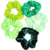 Shades of Green Scrunchies (5 Pack)