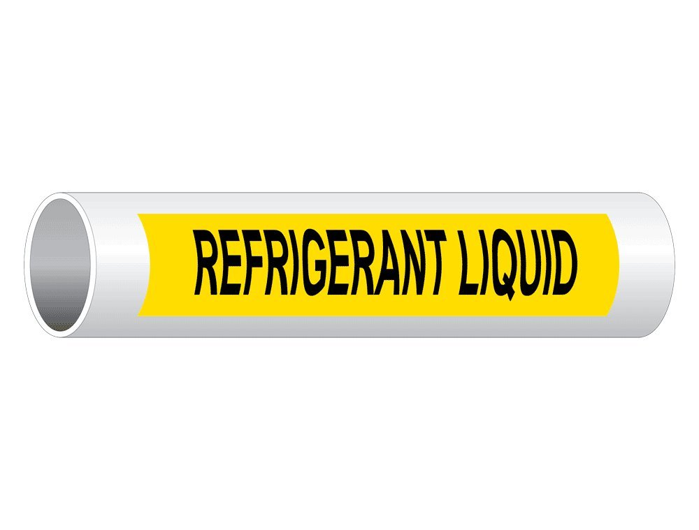 White Legend On Green Background 8x2 inch 5-Pack Vinyl for Pipe Markers by ComplianceSigns Heating Supply Pipe Label Decal