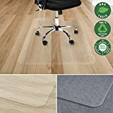 Office Marshal Chair Mat for Hard Floors | Eco-Friendly Series Chair Floor Protector | 100% Recycled (PET) Floor Mat for Office or Home Use | Multiple Sizes | Translucent - 30'' x 48''