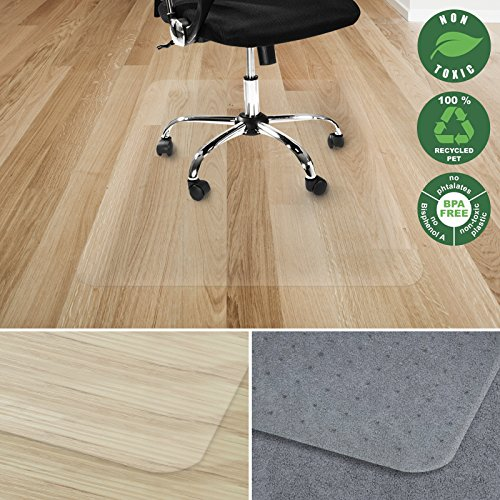 Mat Protection Floor (Office Marshal Chair Mat for Hard Floors, Polycarbonate, Transparent, 30 x 48 -Inches)