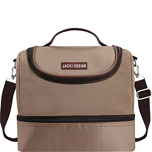 jacki-design-essential-2-compartment-insulated-lunch-bag-brown