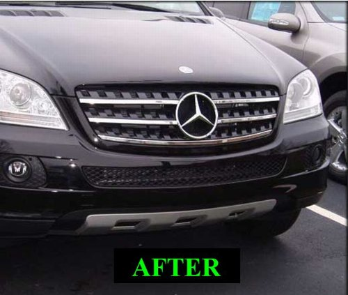 2006 2009 mercedes ml chrome grill grille kit w164 ml 350 for Mercedes benz ml350 accessories