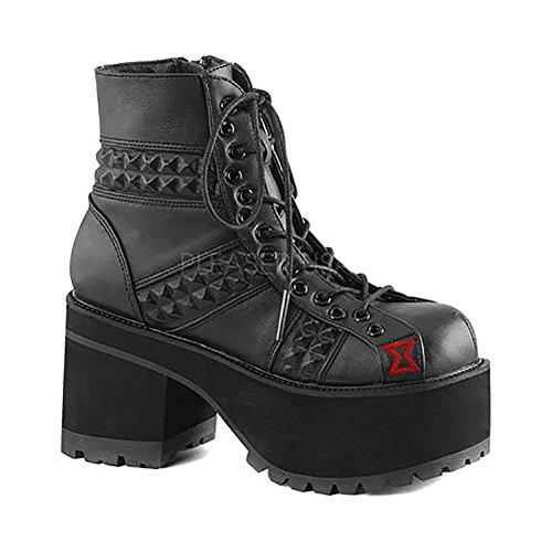 Demonia Ranger 108 Womens Boots Blk Vegan Leather sUQlrK74DS
