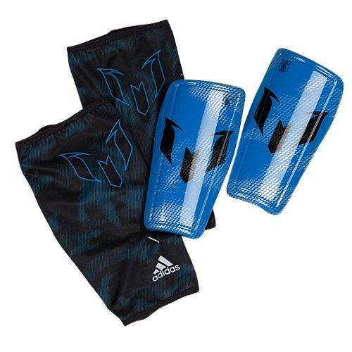 adidas Performance Messi 10 Shin Guard, Prime Blue/Silver Metallic/Night Grey, Large