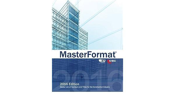MasterFormat 2016: Editor: Amazon com: Books