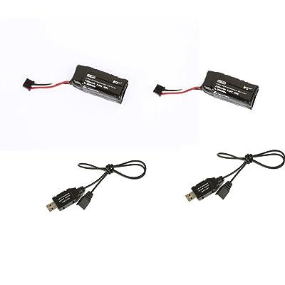 2 PCS 7.6V 710mah 30C lipo batterie et 2pcs chargeur de câble pour HUBSAN H122D X4 Storm Quadcopter