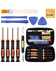 Zacro 12 in 1 Magnetic T6,T8,T0, Phillips Screwdriver Set and Open Pry Tool with Brush and Storage Case Box for Xbox one Xbox 360 Xbox One X Controller and PS3 PS4