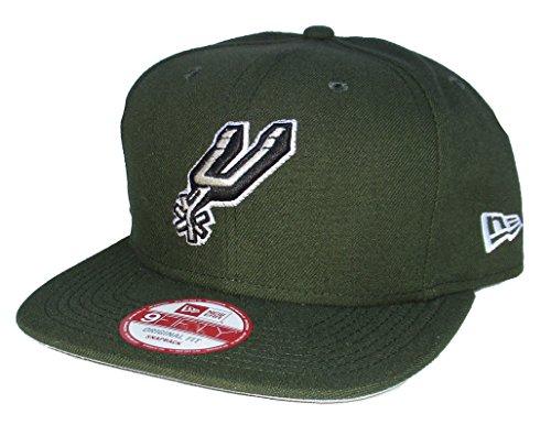 San Antonio Spurs New Era Snapback Adjustable One Size Fits Most Hat Cap - Army Green by New Era Cap Company, Inc.