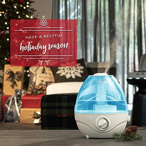 51iJr05HmPL. AC - LEVOIT Cool Mist Humidifiers For Bedroom, 2.4L Ultrasonic Air Vaporizer For Babies [BPA Free], 24dB Ultra Quiet, Optional Night Light, Filterless, 0.63gal, Blue