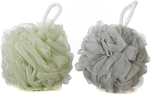 Malla de Baño y Ducha cepillo de esponja esponjas de malla Ducha bola Baño Ducha Esponja Puf infantil Pack de 2: Amazon.es: Belleza