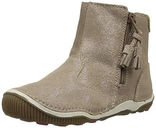 Stride Rite Girls' SRT Zoe Ankle Boot, Light Gold, 10 M US -