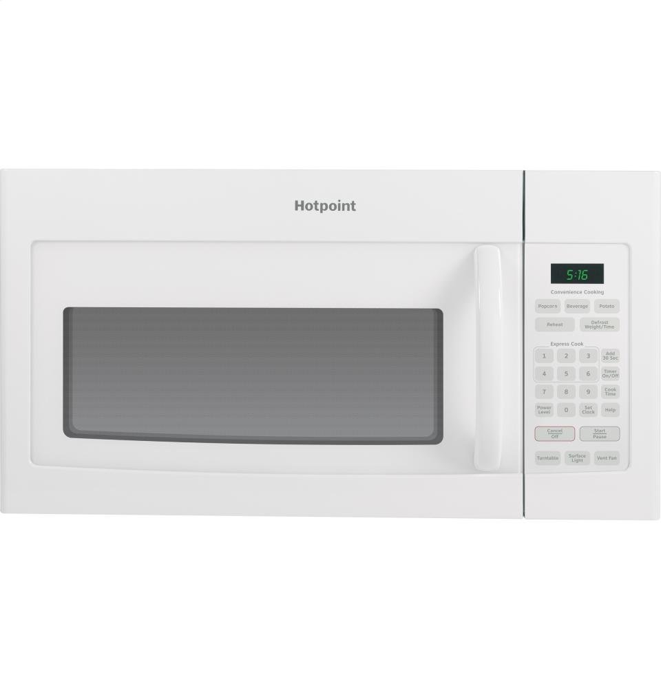 Whirlpool white ice convection microwave - Ge Rvm5160dhww Hotpoint Over The Range Microwave Oven 1 6 Cubic Ft 950w White