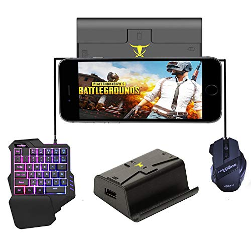 RONSHIN Mobile Gaming Controller,PUBG Mobile Gamepad Controller Gaming Keyboard Mouse Android Phone to PC Converter Adapter for iPhone Gifts for Kids Converter + Keyboard + Mouse by RONSHIN