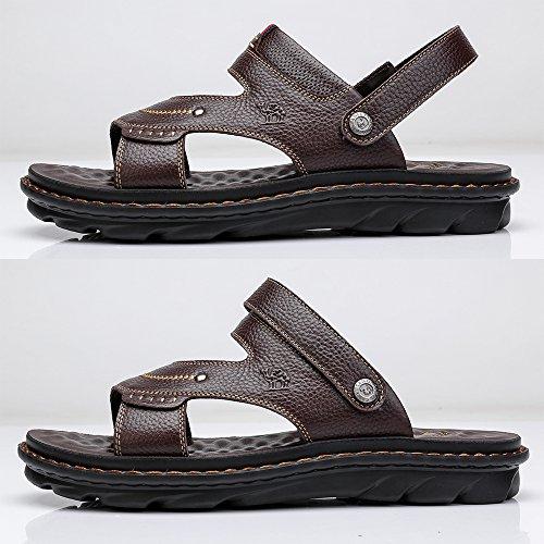 Beach Scarpe Marrone Sandali Morbide Toe in Estate CAMEL Business Open Strap CROWN Back Pantofole Holiday Uomo Sandali Casual Pelle TwOSUq