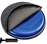 Cheap bintiva Inflated Stability Wobble Cushion, With removable washable overlay, Including Free Pump/Exercise Fitness Core Balance Disc