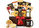 GiftTree Deluxe Thank You Gift Basket | Thank You Mug Gourmet Coffee, Candies Snacks