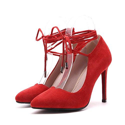 oto de Sandalias Mujer de PU o Zapatos Primavera Zapatos S Gamuza Verano w1qgXxa