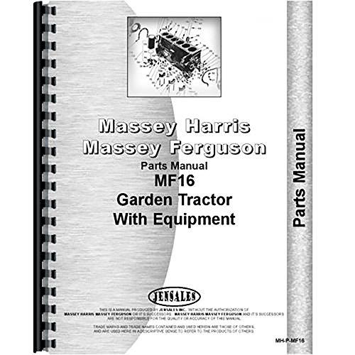 New Massey Ferguson 16 Lawn & Garden Tractor Parts Manual