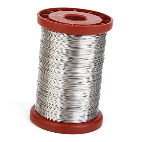TOOGOO(R) 0.5mm 500G Stainless Steel Wire for Beekeeping Beehive Frames Tool 1 Roll