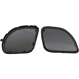 Hogtunes RG RM GRILL Replacement Front Speaker Grille (Black s for 2015-2016 Harley-Davidson FLTR Road Glide Models)