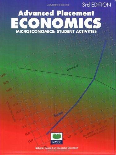 Advanced Placement Economics Microeconomics Student Activities by John S. Morton [National Council on Economic Education,2003] [Paperback] 3rd Edition