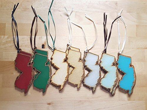 NJ Ornaments (Laser Cut Wood) New Jersey Garden State - Garden Nj Jersey