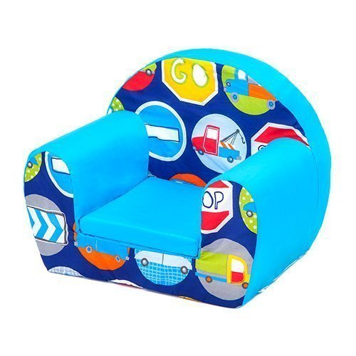 Road Signs Design Children's Toddlers Furniture Small Foam Chair Armchair Seat Ready Steady Bed