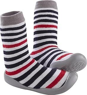 Tichoups Chaussons chaussettes Rayé bleu et rouge