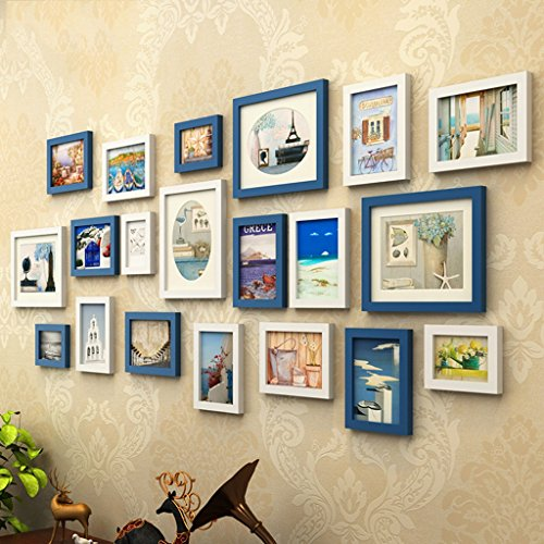 Home@Wall photo frame Photo Gallery Frame Set Of Wall With Usable Artwork And Family, Set Of 20 ( Color : D ) by ZGP