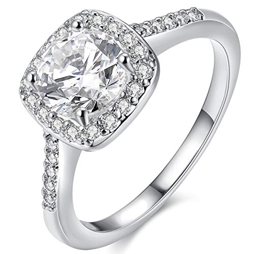 Women's Pretty 18K White Gold Plated Wedding Bands