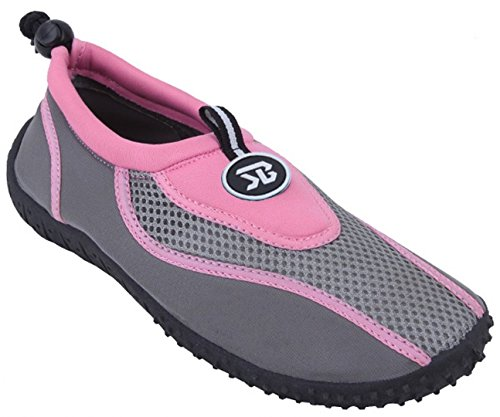 Socks Aqua Beach Pink Colors Women's Slip Water Yoga Pool Exercise 4 on S2907 Athletic Surf Shoes Dance ExqYPXxa