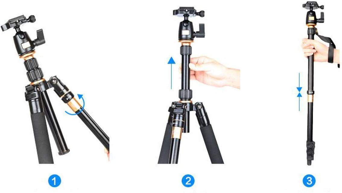 Color : Black Entry Level Tripod Aluminum Alloy Light Portable SLR Camera Tripod Photography Stand Standard PTZ Set HAOYUSHANGMAO Camera Stand