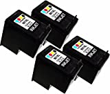 4 Pack Remanufactured Black Ink Cartridge Replacement for HP 901XL (CC654AN)