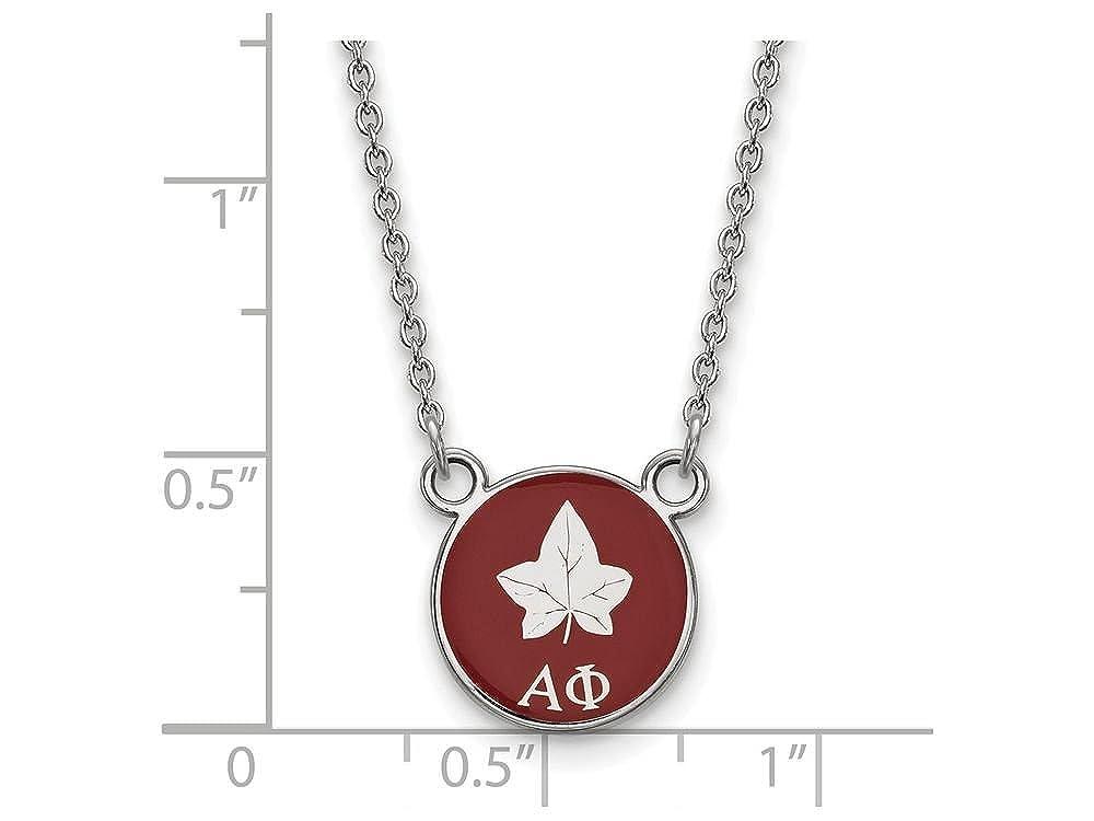 LogoArt Alpha Phi Extra Small Enameled Pendant w//Chain 18 Inch Chain